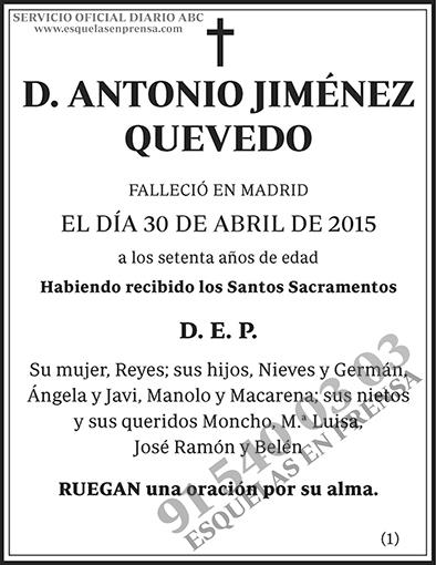 Antonio Jiménez Quevedo